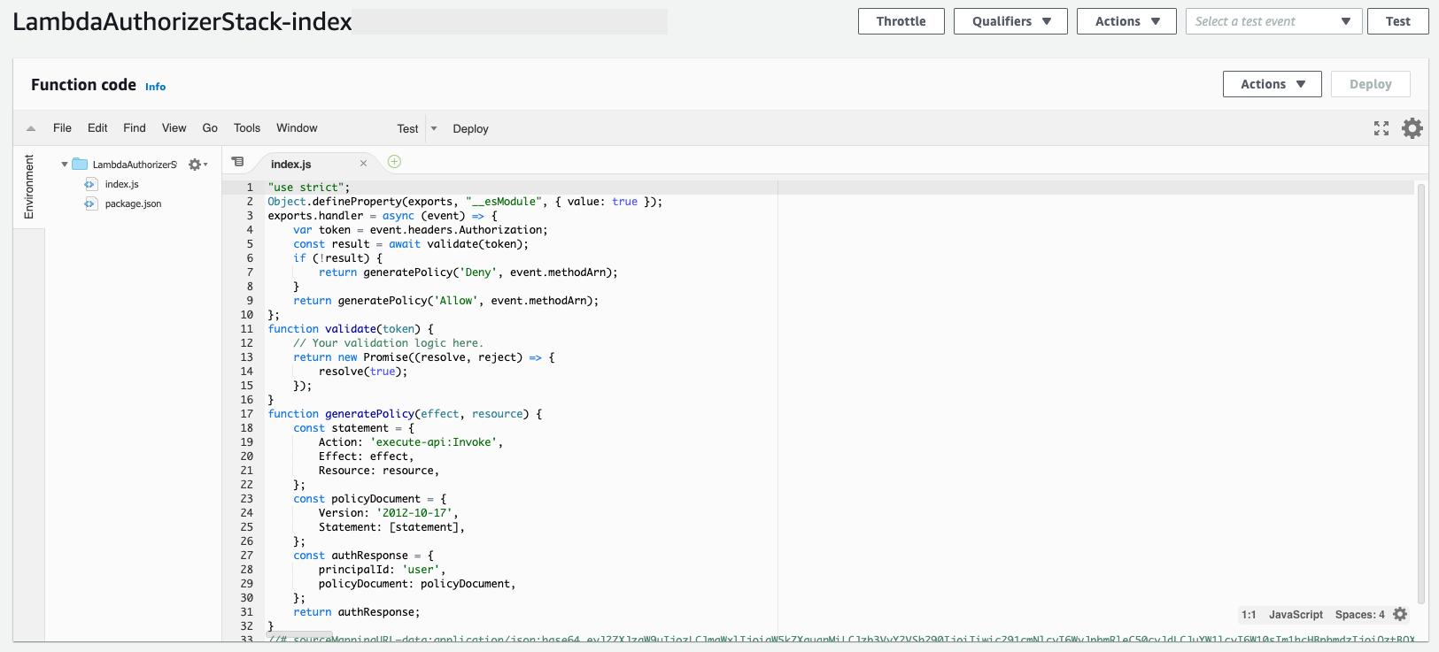 AWS' Lambda code environment